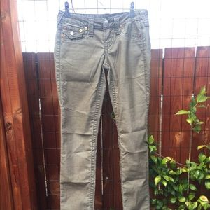 True Religion Brand Jeans Olive Green